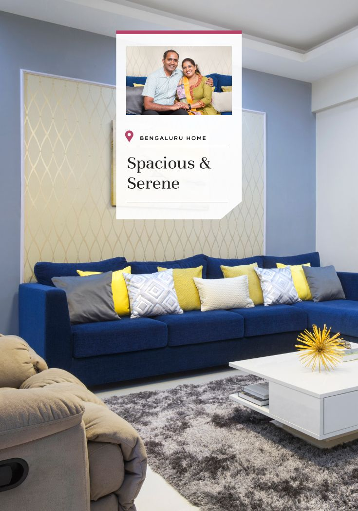 A Simple Home Design With Mellow Shades In Bangalore
