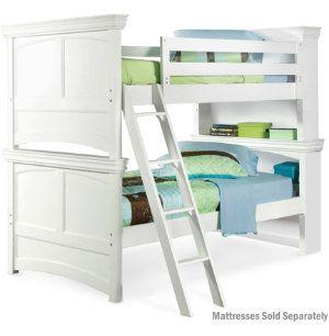 Twin Bunk Bed White Art Van Furniture White Bunk Beds Bedroom Furniture Stores Twin Bunk Beds