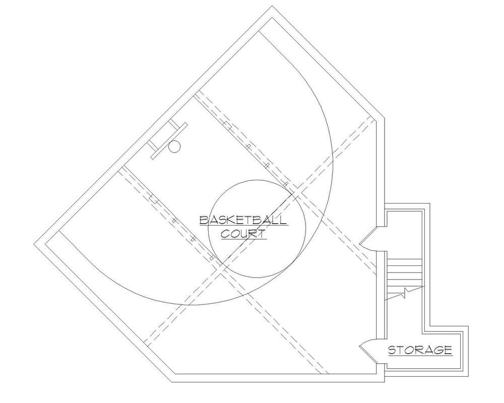 Floor plan basketball court house plan pinterest for Indoor basketball court plans