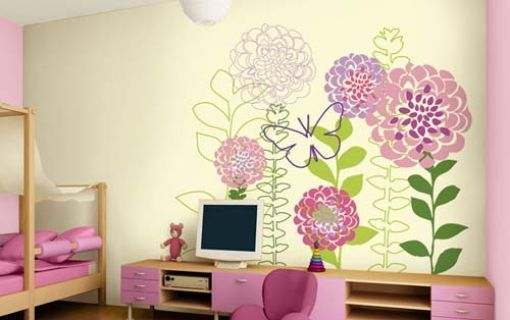 Homedesigncorp Com Girls Room Wallpaper Colorful Kids Room