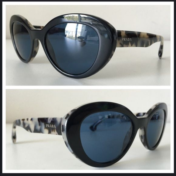 39041b5831d4e PRADA SPR 15Q HAVANA BLACK   IVORY SUNGLASSES PRADA -Condition  Brand New  Without Case