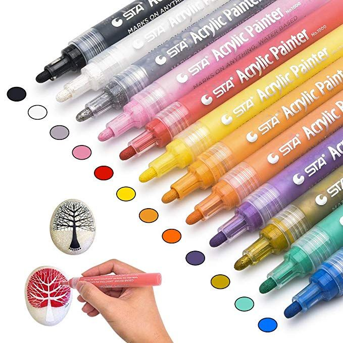 Chasehill Paint Pens For Rocks Wood Metal Plastic
