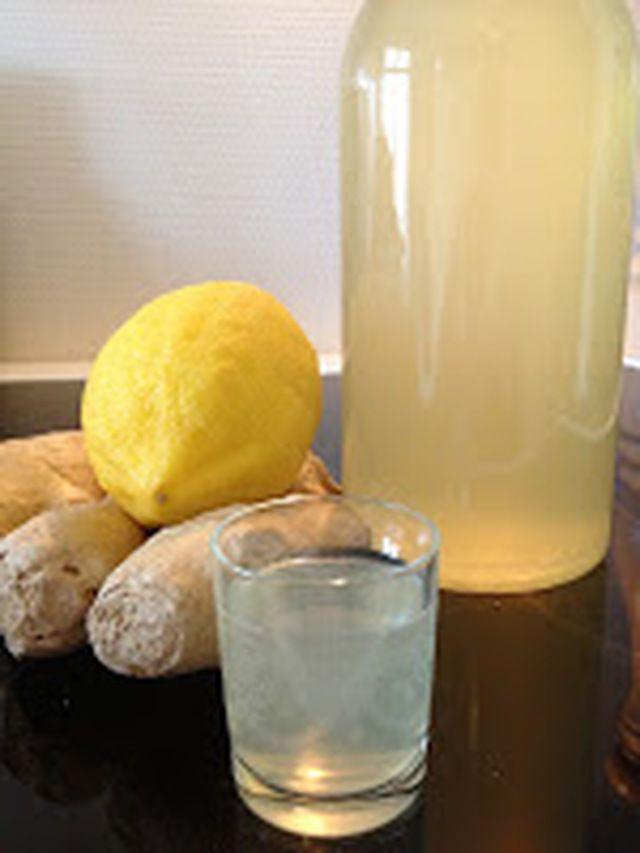 citron og ingefær shots