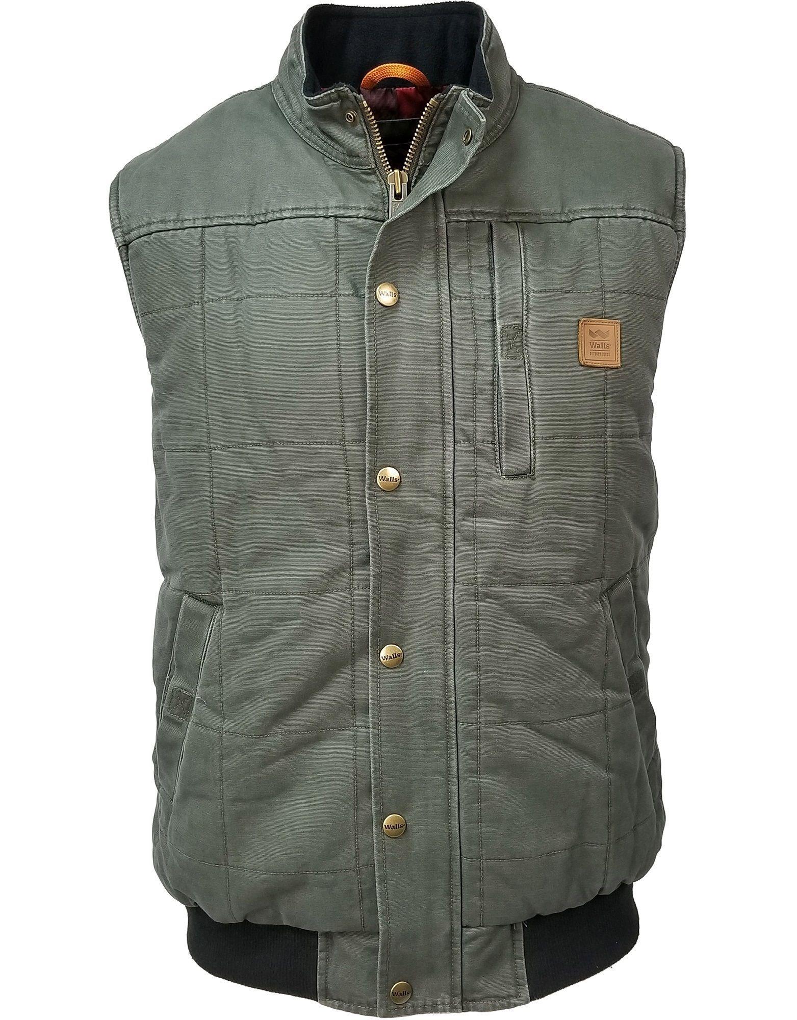 Driftwood Worn In Quilted Duck Work Vest Quilted Vest Vest