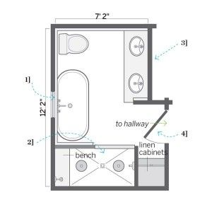 Diy Small Bathroom Floor Plans Shed Dormers Raised The Roof For A Luxe Master Bath Small Bathroom Floor Plans Master Bathroom Layout Bathroom Plans