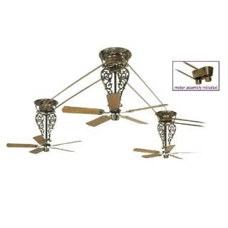 "Check out the Fanimation FP580AB-18-L3 Bourbon Street 15 Blades 52"" Long Ceiling Fan in Antique Brass with Oak/Walnut Blade"