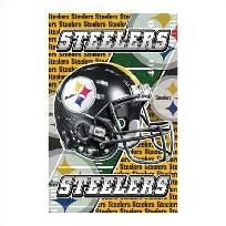 """Double-duty sign puts your proud Steelers support on vivid display! Unique design """"flips"""" between the official lettering and logo of your beloved Pittsburgh team; magnetic back attaches instantly and securely to any metal surface. Officially licen..."""