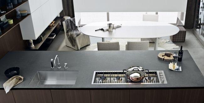 twelve küche mit kochinsel granit arbeitsplatte matt Küchen - arbeitsplatten granit küche