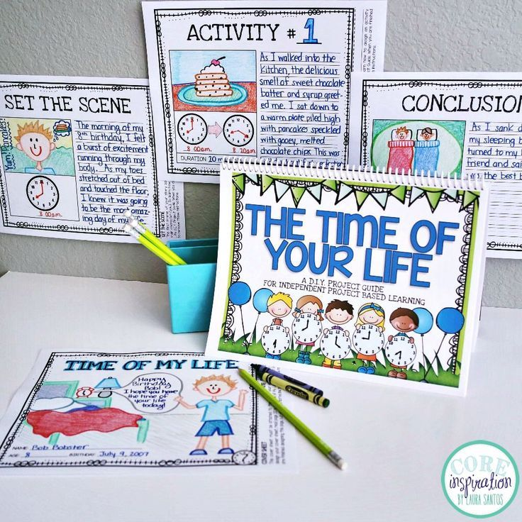 The Time Of Your Life D.I.Y. Project Guide - guides students through each step of an enriching project based learning adventure so they can apply telling time skills with complete independence. Finally, project based learning is possible in my classroom!