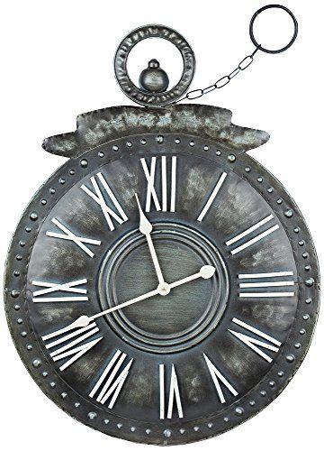 Cooper Classics Holbrook Wall Clock Click Image To Review More Details Note It S An Affiliate Link To Amazon Metal Wall Clock Wall Clock Design Clock