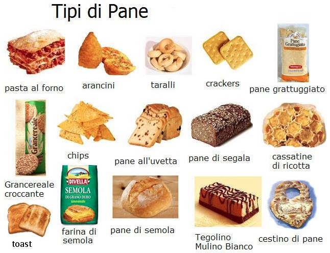 Tipi di pane lessico pinterest tipi learning for Tipi di serpenti nomi