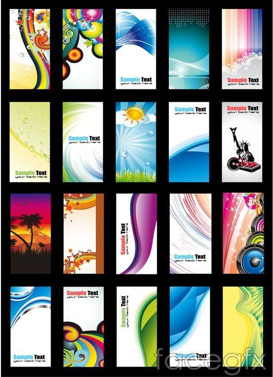 Vertical Card Vector Rainbow Design Free Business Card Templates Colorful Business Card Vertical Business Card Template