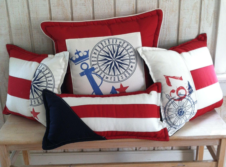 Ralph Lauren Nautical INDOOR OUTDOOR Pillow Package Of 4 By NauticalFabrics  On Etsy Https:/