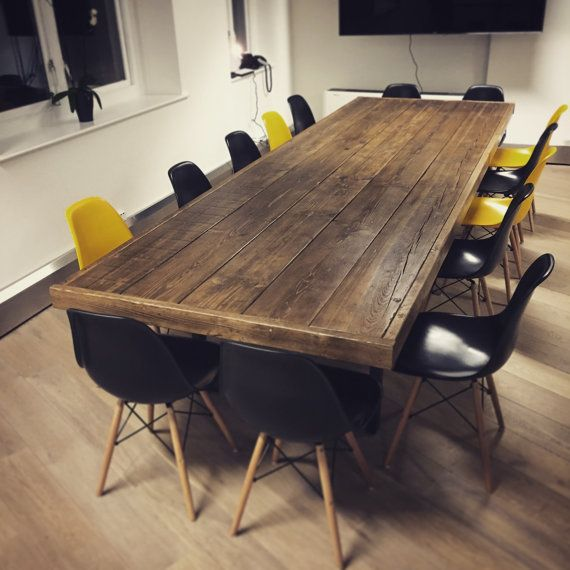 """Salle à Manger Occasion: Reclaimed Wood """"Jules"""" Boardroom / Dining Table In 2019"""