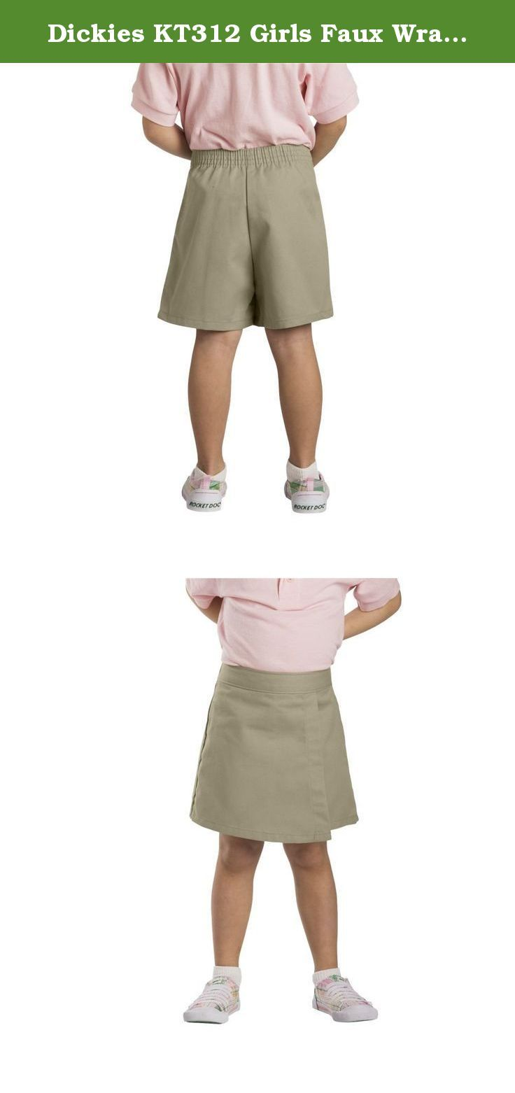 4fbb682e5 Dickies KT312 Girls Faux Wrap Skort-KHAKI-5. | Skirts, Scooters ...