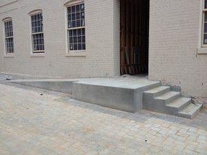 Concrete Handicap Ramp And Steps