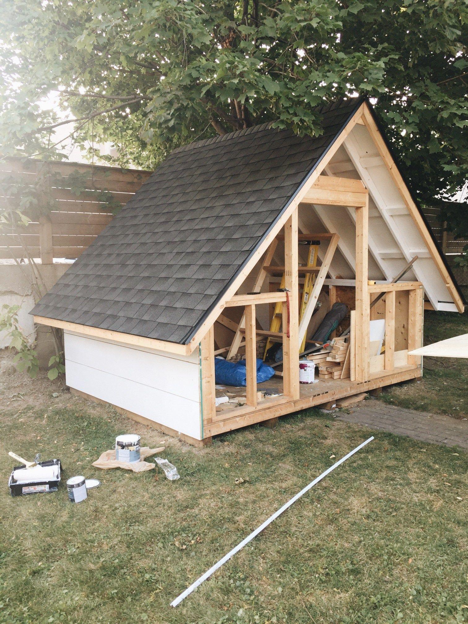 Diy A Frame Shed Build With Home Depot Canada Backyard Sheds Shed Shed Design