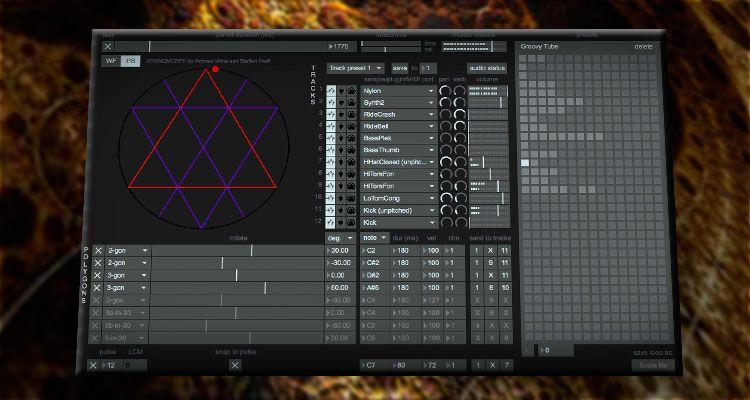 Xronomorph Generador De Loops Gratis Basado En Formas Poligonales Y Escalas Musicales Future Music Sonicplug Tecnolog Escala Musical Generadores Musical