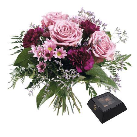 blommogram med choklad