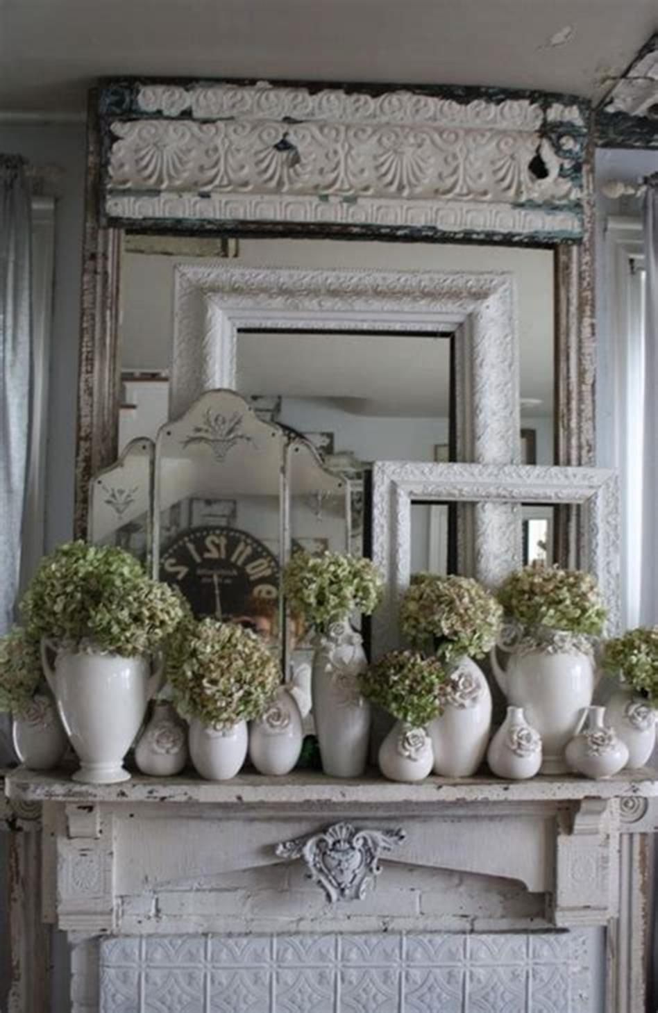 30+ Best Shabby Chic Farmhouse Living Room Decor Ideas 2019