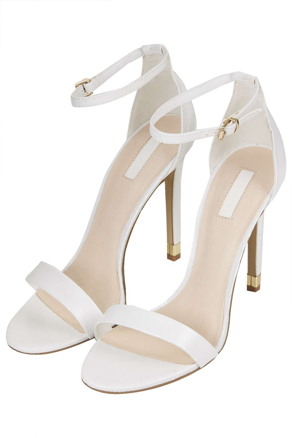 Topshop RUBY Strappy High Sandals in White, £46
