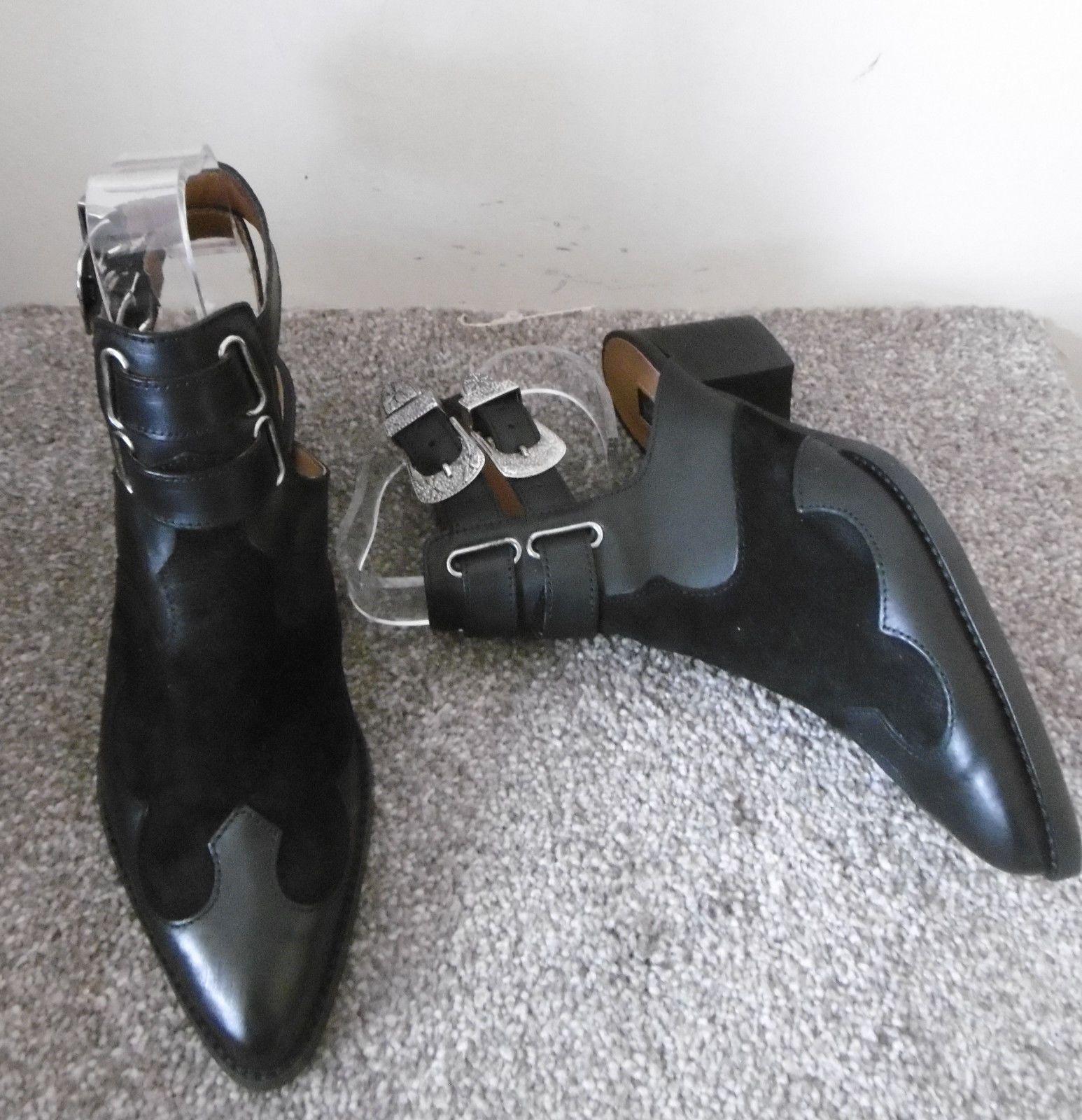 Topshop Black AUSTIN Western Buckle Heeled Boots Size UK 5 EU 38 In Store 69 https://t.co/fyCuujgshg https://t.co/fbgCospqv5