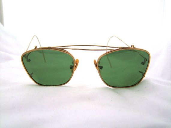 2d6593f3f9ed Rare Antique 1920 s   1930s Shuron GOLD FILLED Eyeglasses With Clip ...