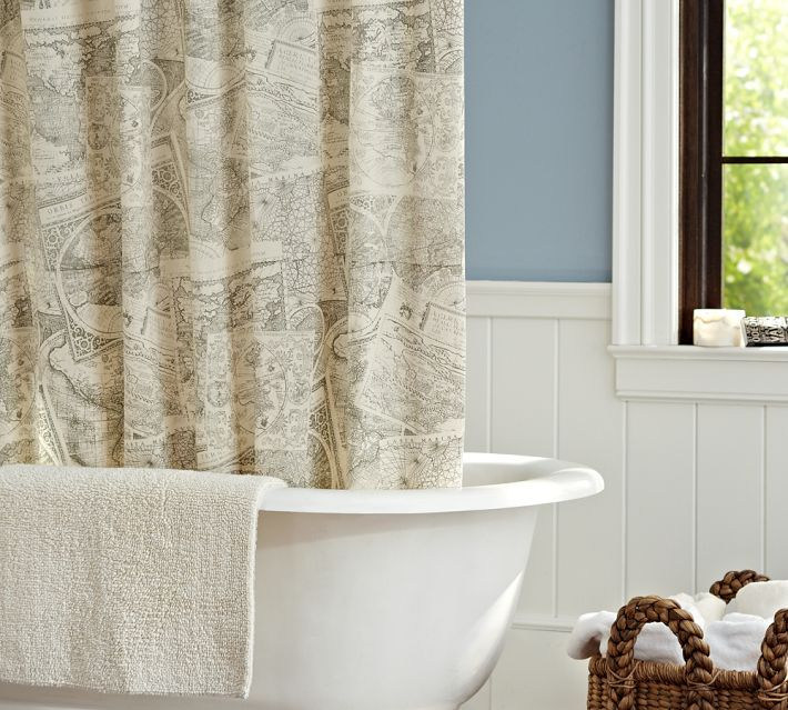 Cartography Shower Curtain – Pottery Barn