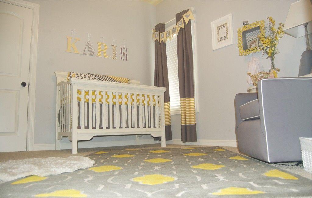 Baby Girl Gray And Yellow Nursery Yellow Baby Room Grey Baby