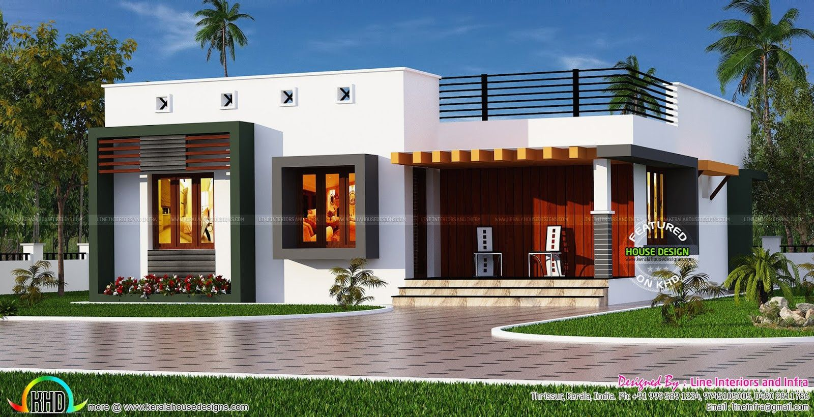 Building Elevation Designs Single Floor Houses Best Of Box Type Single Floor House Kerala H Kerala House Design Single Floor House Design Bungalow House Design