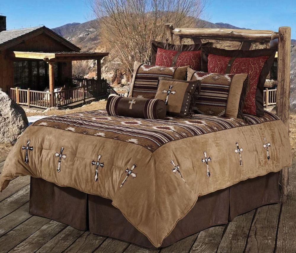 Best Navajo Cross Southwestern Style Comforter Western Bedding 400 x 300