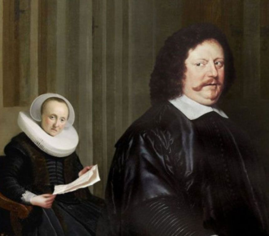 Wife discovers browser history. Artist unknown, oil on canvas, 1768.
