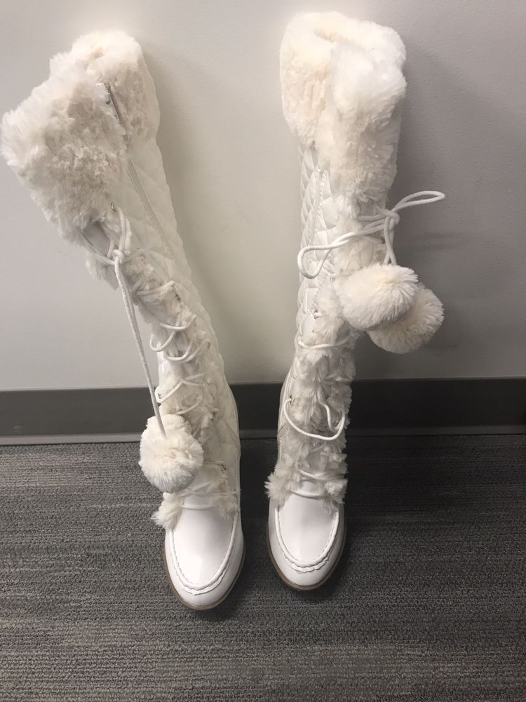 6eee1d3a551 womens tall white boots size 9 - New in the box #fashion #clothing ...