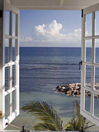 Fototapete fenster aussicht  Katja Sucker: Fenster zum Paradies - Glasbild 80 x 60 cm ...