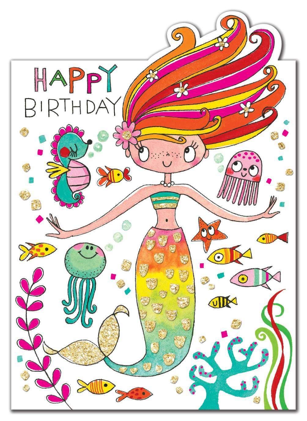 Rachel Ellen Happy Birthday Mermaid Card (With images