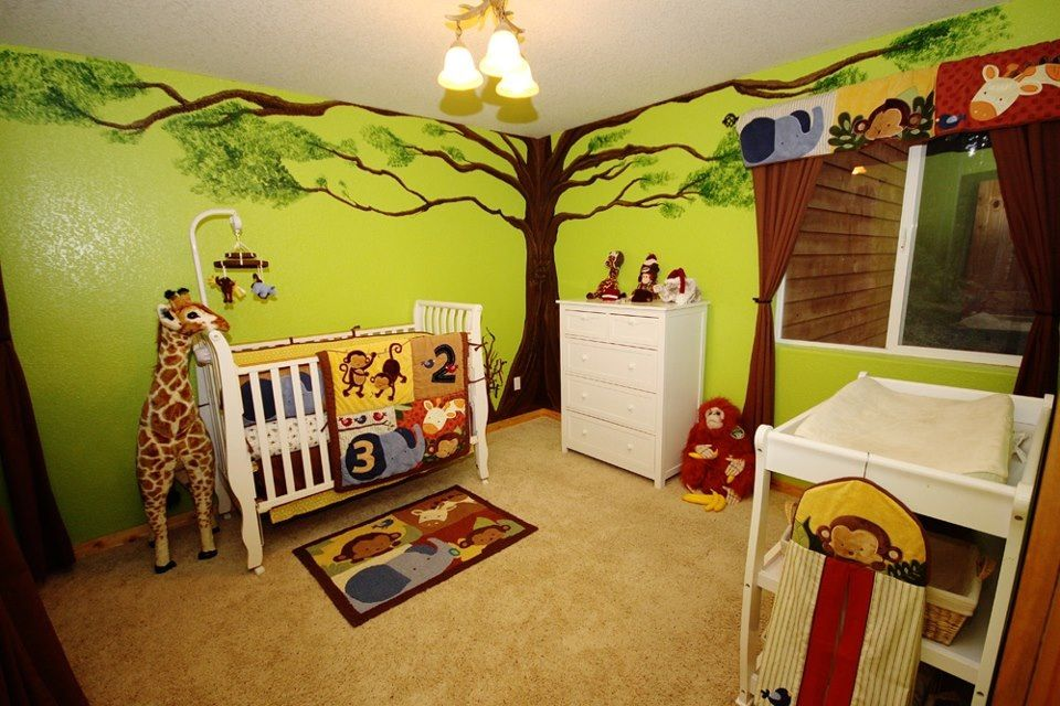 Space Themed Baby Room With Planet Mobile Baby Room Themes