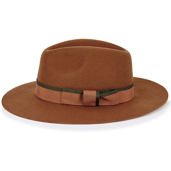 2ea5a60db10cf Christys  London Soho Burnt Orange Wool Fedora ( 120) ❤ liked on Polyvore  featuring accessories