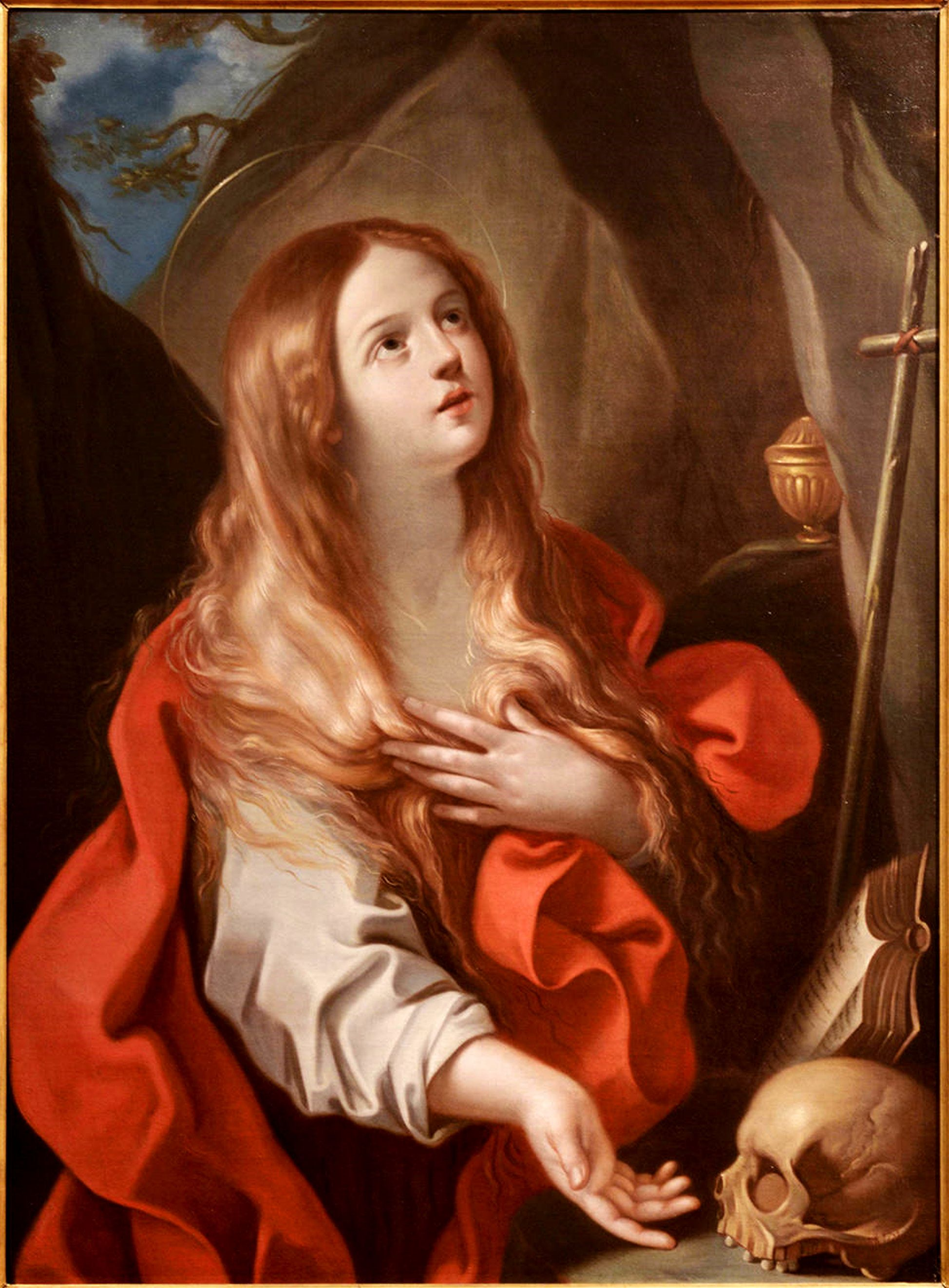Penitent Mary Magdalene Ca Ad By Francesco Gessi
