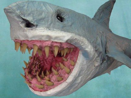 paper mache shark valentines day paper mache animals. Black Bedroom Furniture Sets. Home Design Ideas