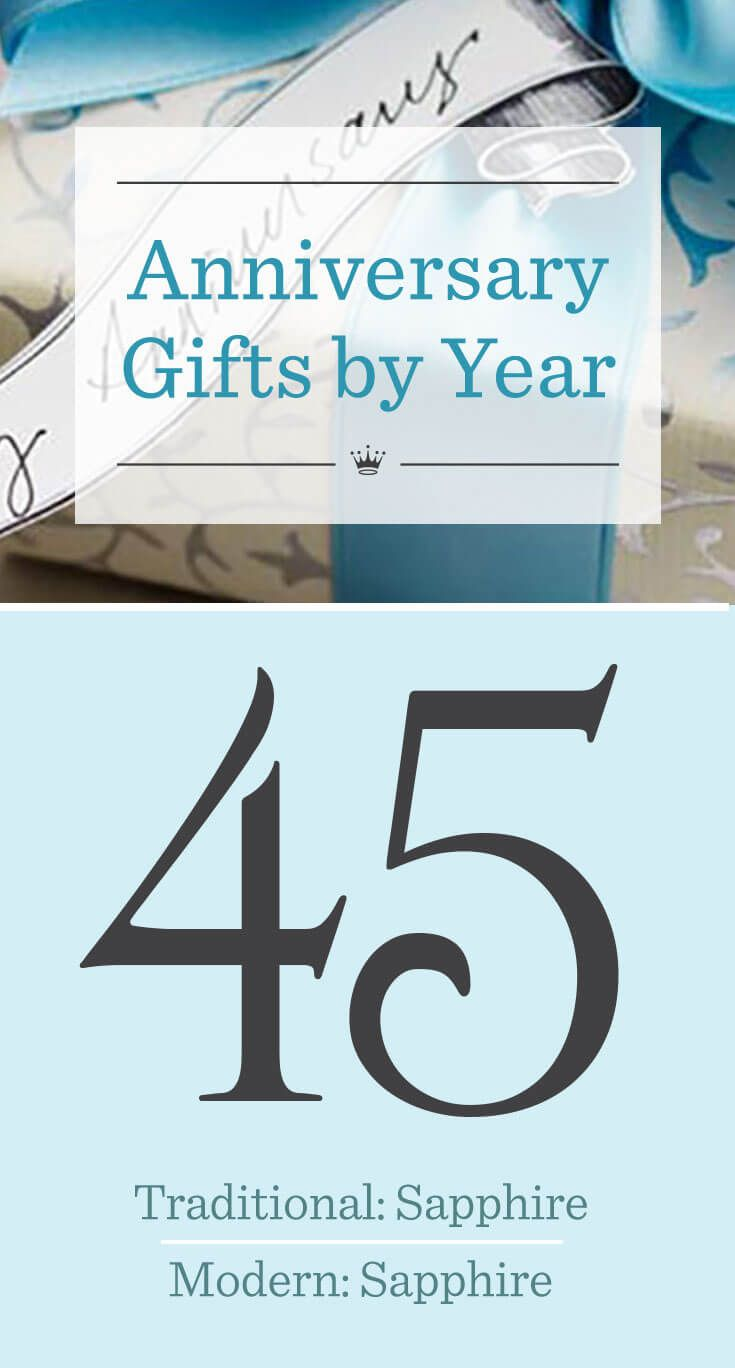 forty fifth wedding anniversary gifts