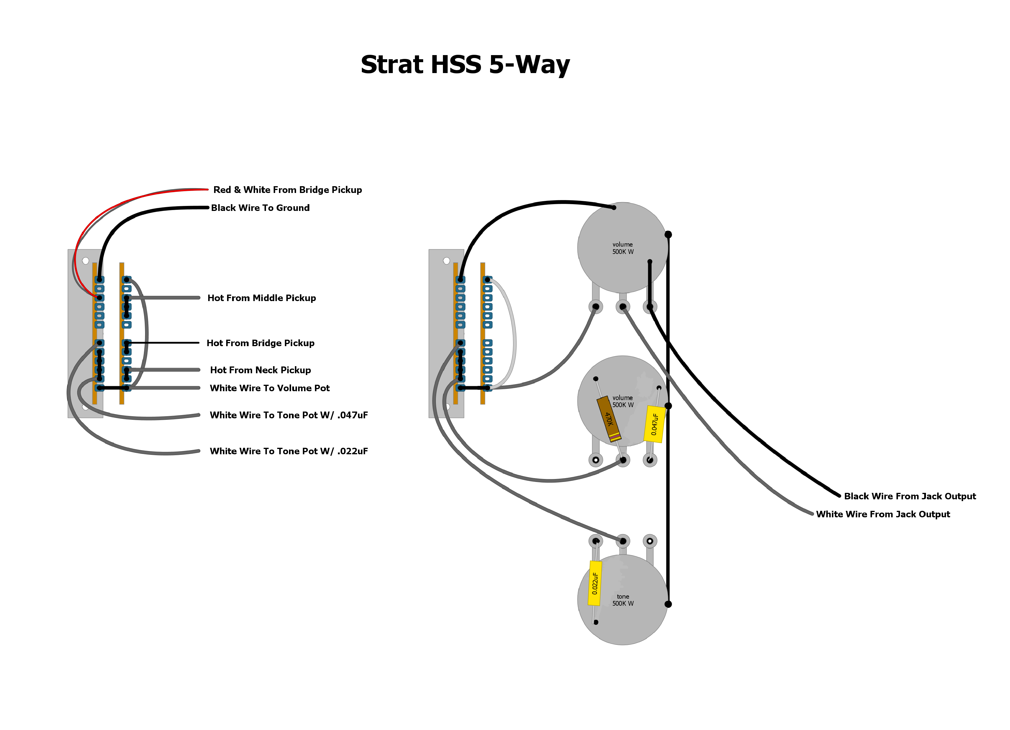 Picture Wiring Diagram For Electric Guitar Strat Hss 5 Way Wiring