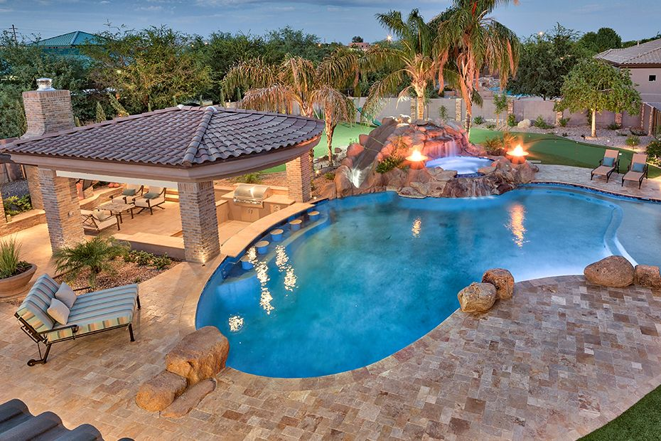 Swim-up Bars and Swimming Pools in Phoenix AZ - Photo Gallery | Pool ...