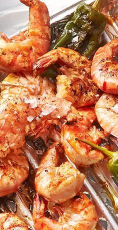 Photo of Grilled prawns with pimientos