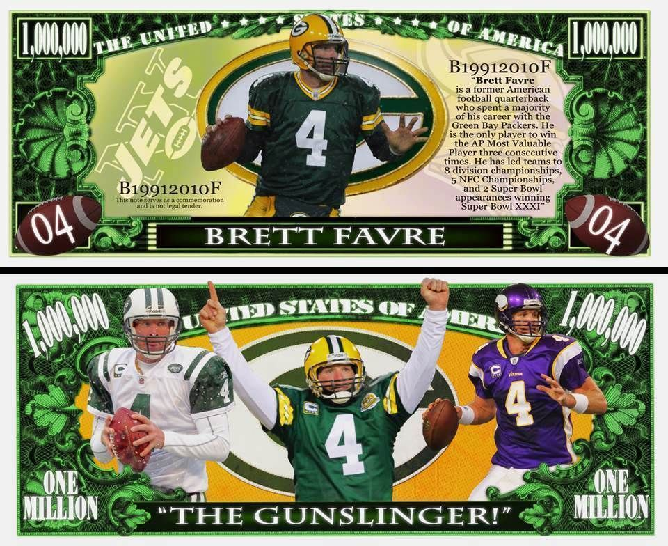 online store 32d57 b5b21 Details about Brett Favre - Green Bay Packers Million Dollar ...