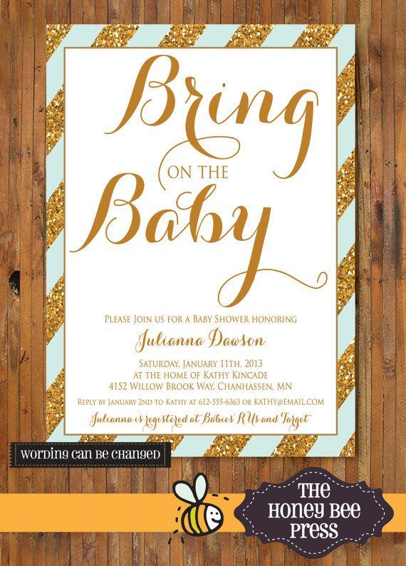 Baby Shower Invitation Glamorous By Thehoneybeepress 15 00