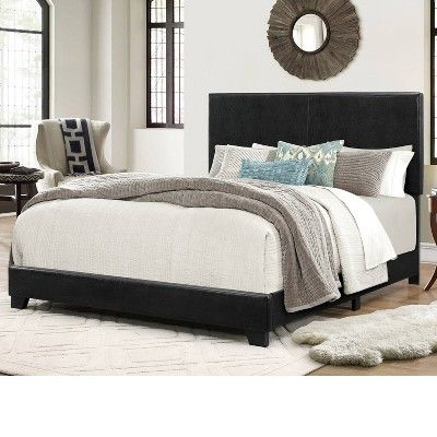 Archer Faux Leather Bed Frame King Black Home Source