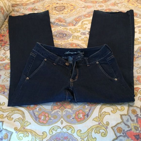AE JEANS stretchy flare AE DARK WASH WIDE LEG AND FLARE JEANS! perfect shape American Eagle Outfitters Jeans Flare & Wide Leg
