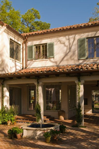 Del Monte Residence Gardens Curtis Windham Architects Spanish Architecture Colonial Revival Architecture Hacienda Style