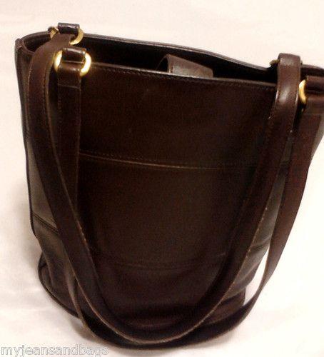 Vintage Coach Tribeca Shoulder Bag Bucket Bag Purse in Brown