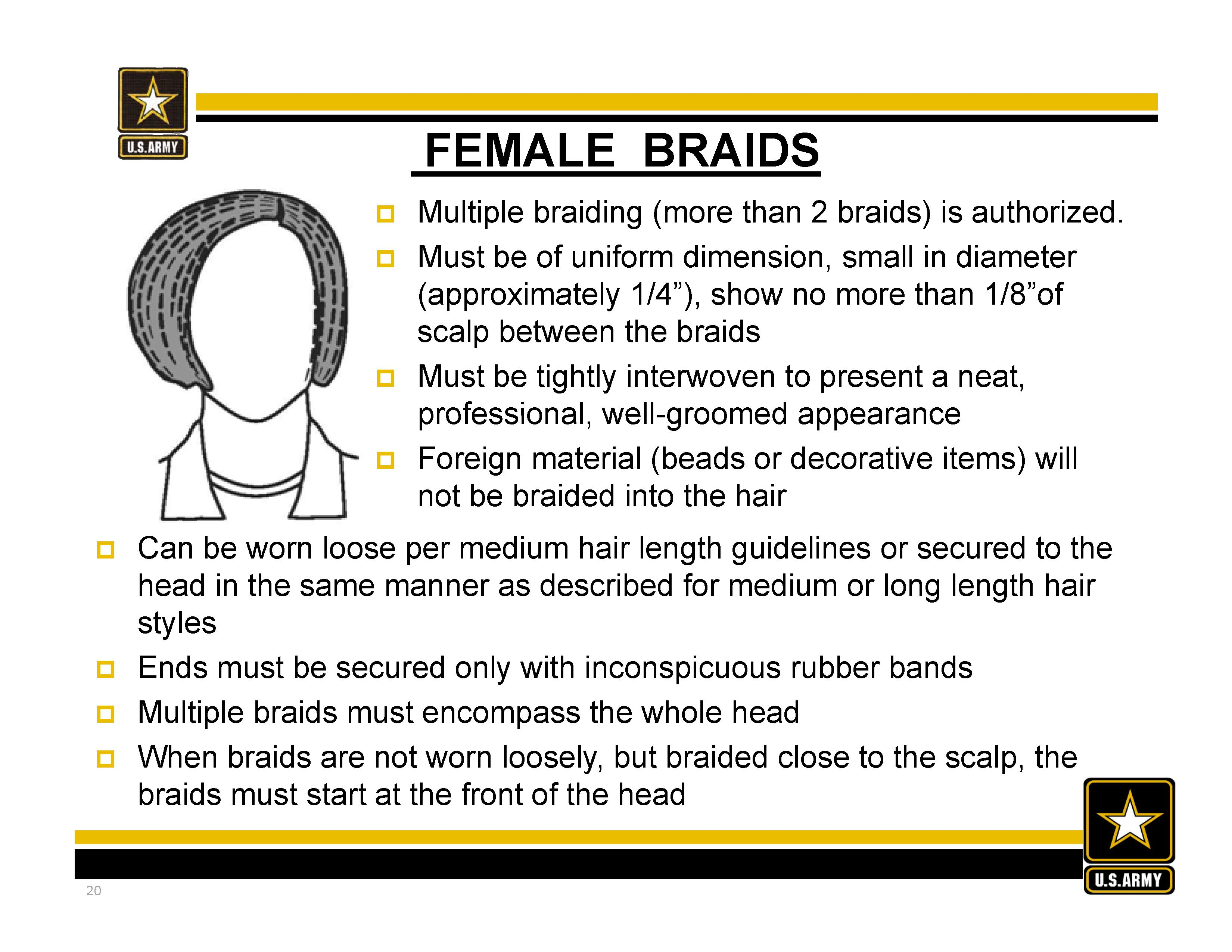 new army hair regulations - ar 670-1 as of 31 march 2014 #braids